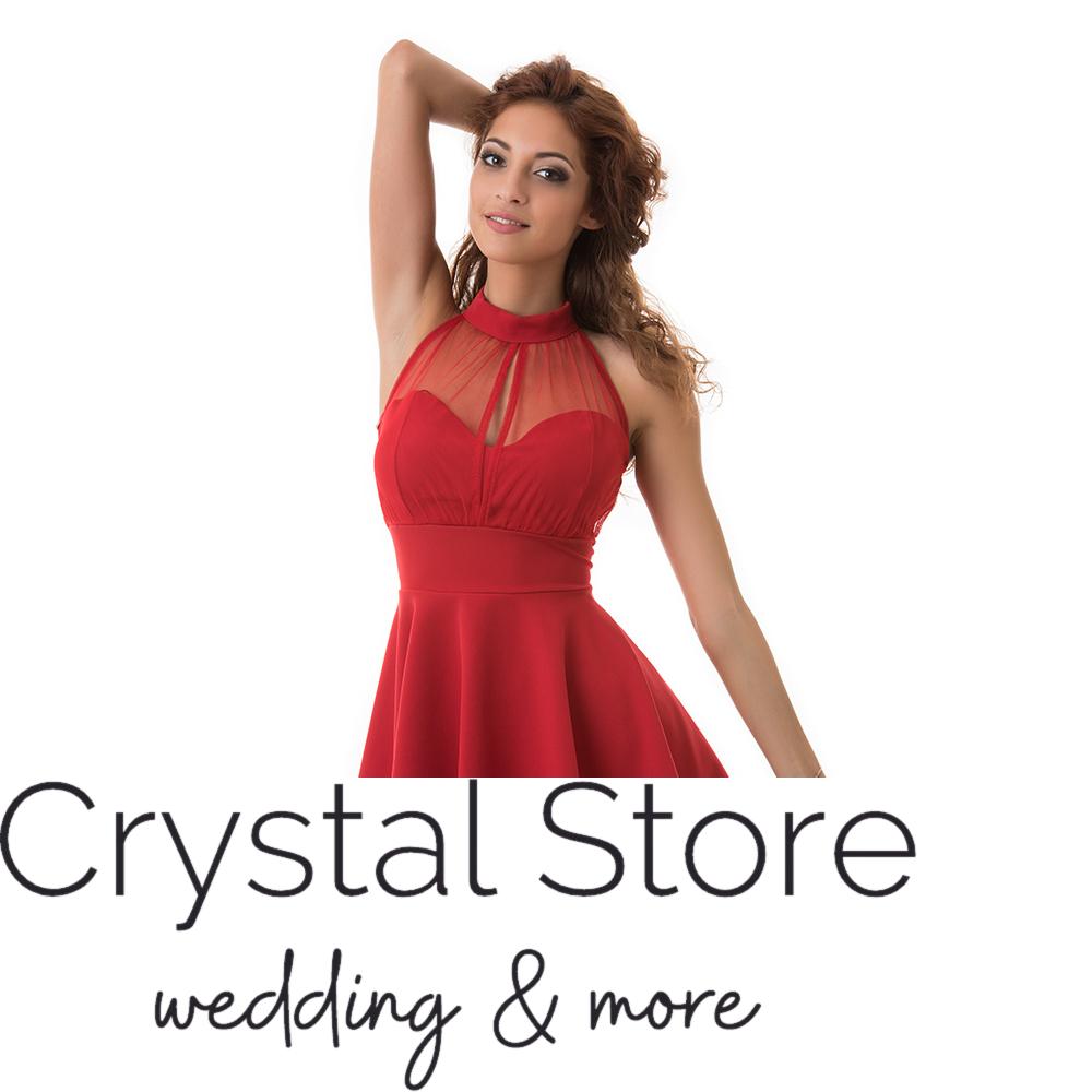 ba4eade0f0 Nyakban záródó alkalmi ruha piros L