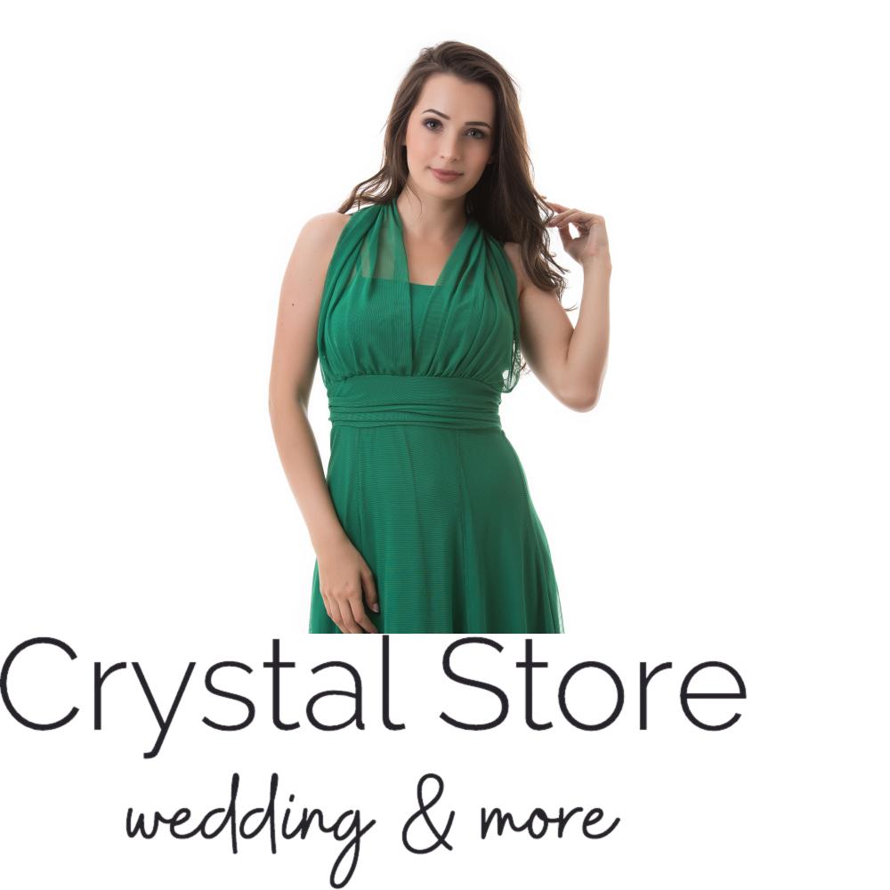 b8776cf5d6 Neccrátétes nyakbakötős alkalmi ruha, zöld