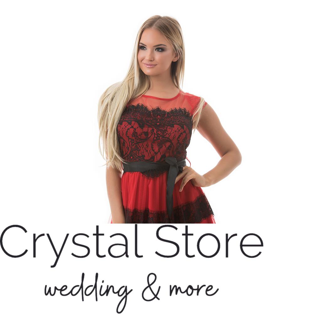 96f5e8aa66 Rose alkalmi ruha, piros-fekete