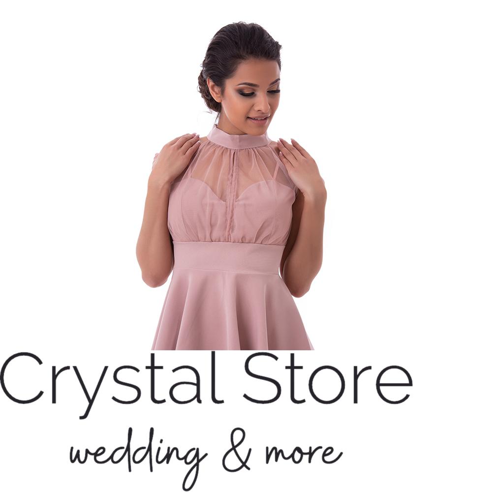 8b7599092d Nyakban záródó alkalmi ruha, fáradt rózsaszín L