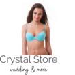 Paloma push-up kosaras bikini strasszos D-kosár