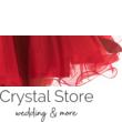 Tüllös szatén szalagos koktélruha, piros S