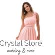 Muszlin koktélruha szaténrózsával gyönggyel rózsaszín