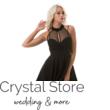 Nyakban záródó alkalmi ruha fekete