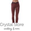 Bőrhatású nadrág, bordó XL
