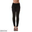 Fűzős jeans, fekete S