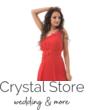 Cseresznyevirágos féloldalas koktélruha, piros