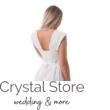 széles pántú menyasszonyi ruha, fehér