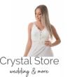 fehér pántos menyasszonyi ruha