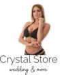 Pyramid kiszélesített push-up háromszög bikini, fekete-arany, pántos alsóval C-D kosár
