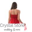 Barokk mintás, neccrátétes koktélruha, piros