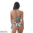 Carib pálmaleveles topos bikini, fehér S