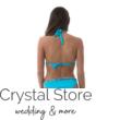 Sea színes fonott kiszélesített push-up háromszög bikini visszahajtós alsóval, vízkék C-kosár M
