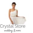 Muszlin koktélruha szaténrózsával gyönggyel fehér