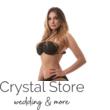 Carib pöttyös fűzős topos bikini, fekete-arany M
