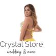 Mania citrom mintás kiszélesített push-up háromszög bikini, sárga