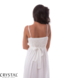 Kagyló mintás muszlin maxiruha, fehér