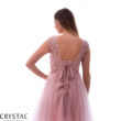Flora tüllös koktélruha, soft pink