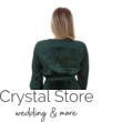 Hosszúujjú, pliszírozott szatén alkalmi ruha, fenyőzöld