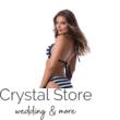 Paloma állítható kiszélesített push-up háromszög bikini, csíkos, kék-fehér 408