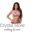 Paloma tekert merevítős cső bikini, korall mintás, piros 901 D kosár