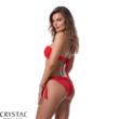 Paloma szivacslapos cső bikini, bordázott anyagú, piros 704