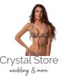 Paloma állítható kiszélesített push-up hárömszög bikini, leveles, narancssárga 403