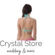 Sea fonott dekoros kiszélesített push-up háromszög bikini, visszahajtós alsóval, menta-pink, C kosár L