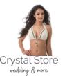Sea fonott dekoros kiszélesített push-up háromszög bikini visszahajtós alsóval, krém-bronz, C KOSÁR