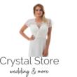 Hímzett, gyöngyházfényű, kristályos koktélruha, plus size fehér