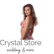 Paloma pántos push-up háromszög bikini, korall mintás, piros 1002