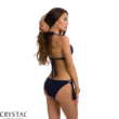 Paloma push-up háromszög bikini, horgolt dekorral, sötétkék 409 M