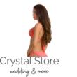 Paloma push-up háromszög bikini, horgolt dekorral, barack 407 M