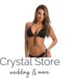 Paloma push-up háromszög bikini, kötős,fém dekoros, fekete 1013