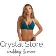 Paloma push-up háromszög bikini, fém dekoros, jádezöld 1015