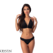 Paloma push-up háromszög bikini, fekete 1019