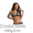 Paloma szivacslapos háromszög bikini, dzsungel mintás, fekete 801