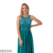 Cheryl muszlin maxiruha, smaragdzöld