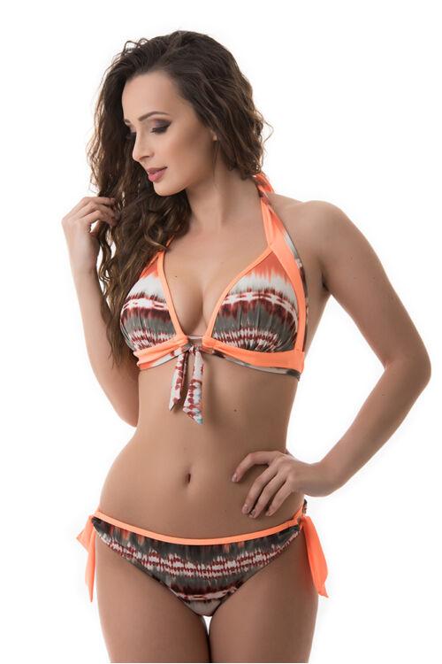 Carib kiszélesített push-up háromszög bikini, batikolt hatású