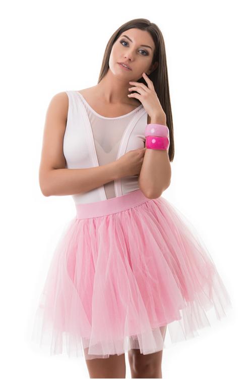 Tüllszoknya rózsaszín színben