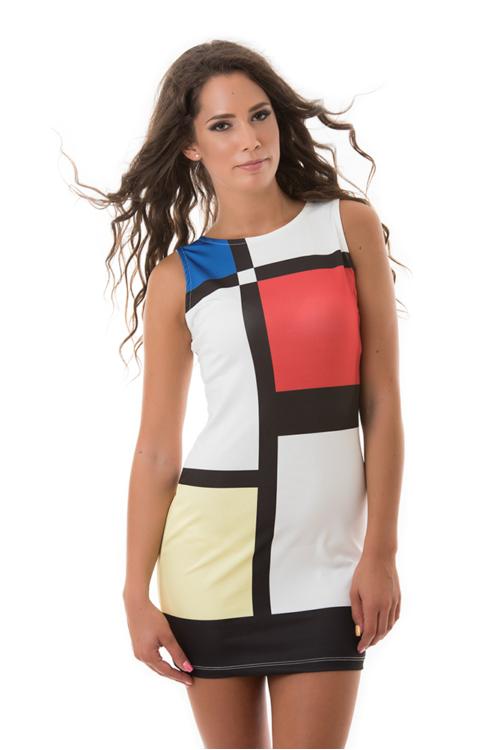 Testhezálló színes alkalmi ruha