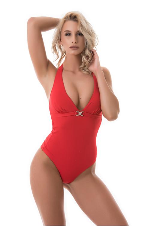 Sea egyberészes fürdőruha, piros
