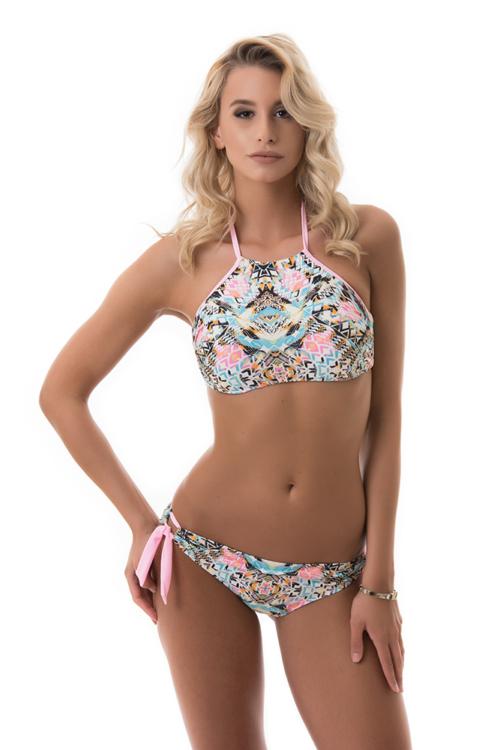 Carib mintás topos bikini, rózsaszín