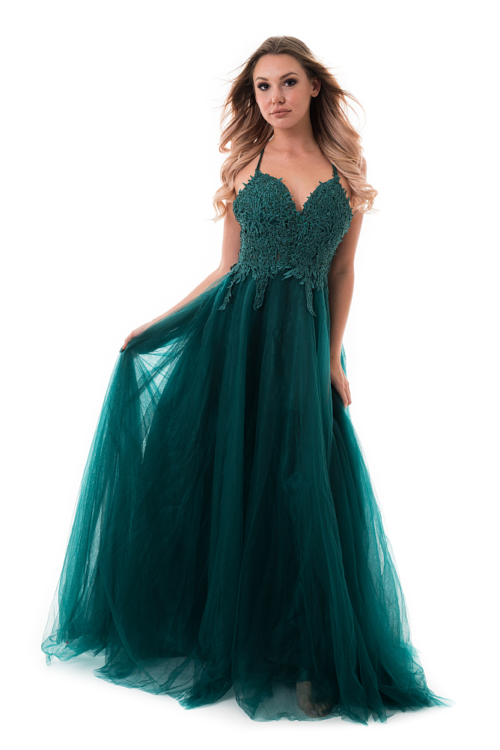 Emerald maxiruha stólával, sötétzöld