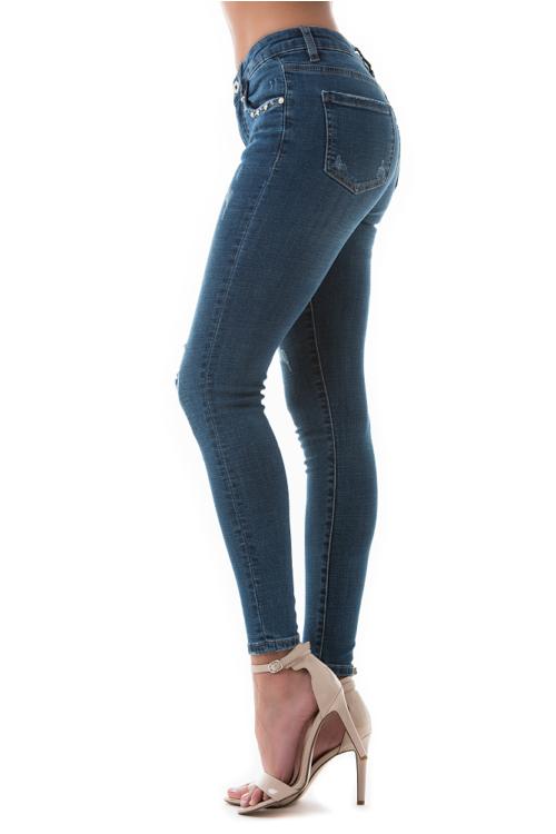 Pearl jeans, kék