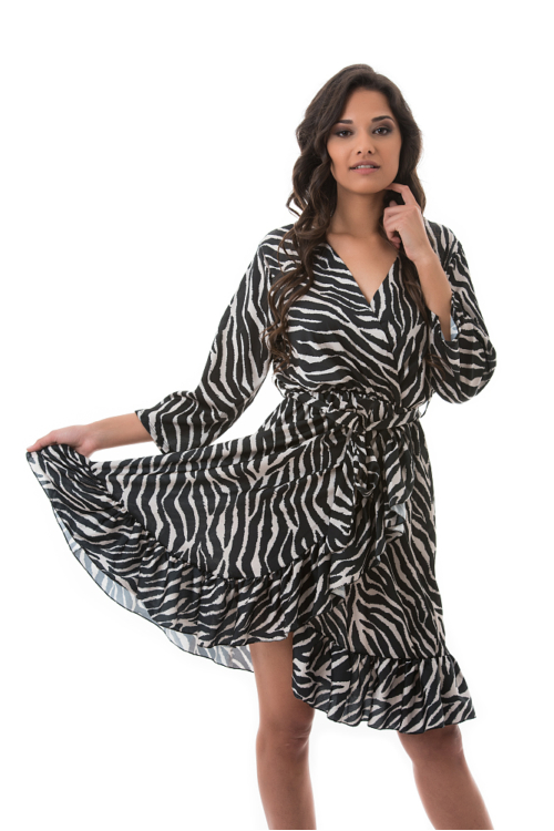 Frilly Dress, zebra