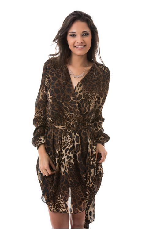 Dzsungel ruha, leopárd, sötétbarna