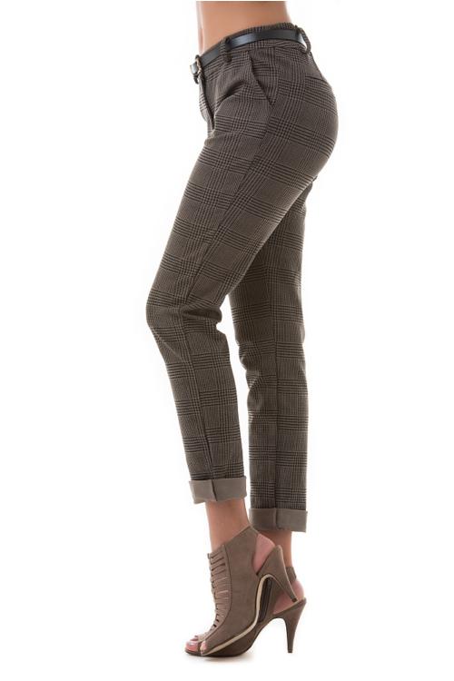 Kockás vászon nadrág