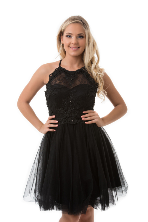 Vintage kokélruha, fekete