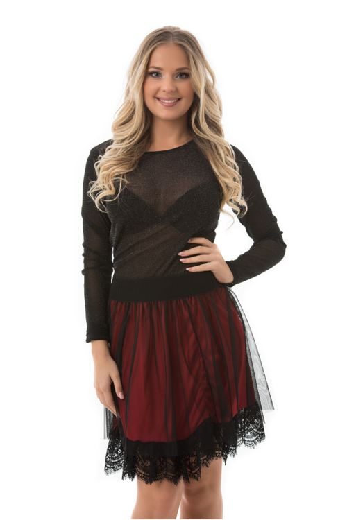 Tulle lace, piros